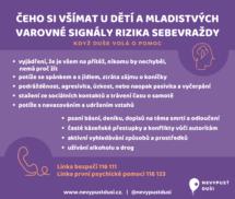 Web I - prevence sebevražd u dětí a mladistvých